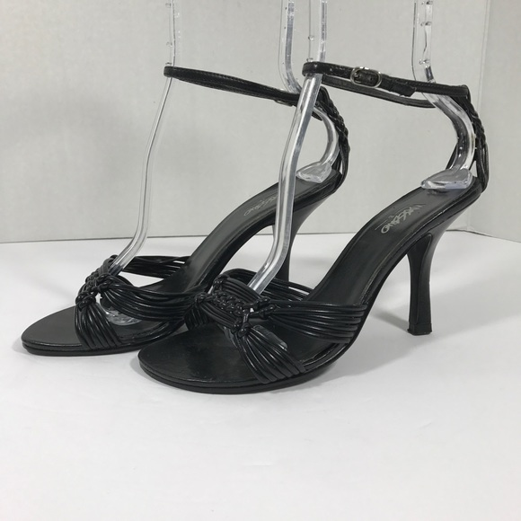 29c1bff227a8 Mossimo Black High Heels Size 7 12 Ankle Strap